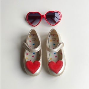 Grendene | Mini Mel Pearl Red Heart Maryjanes | 9T